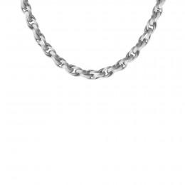 Collier chaîne No.2, plaqué argent, 40 cm