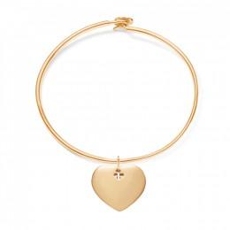 Bracelet Penelope avec cœur plaqué or