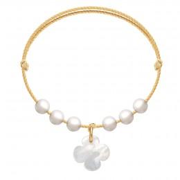 Bracelet Pearl Luck sur un cordon doré premium