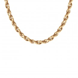 Collier chaîne No.2, plaqué or, 50 cm