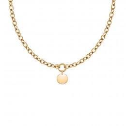 Collier chaîne No.1 avec médaillon plaqué or 1,5 cm