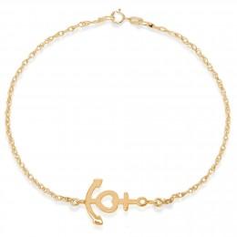 Bracelet chaîne avec une ancre plaquée or