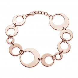 Bracelet Lune rose plaqué or