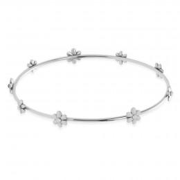 Bracelet Flowers en acier