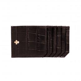 Porte-cartes brun