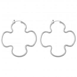 Boucles d'oreilles Clover 7 cm, acier