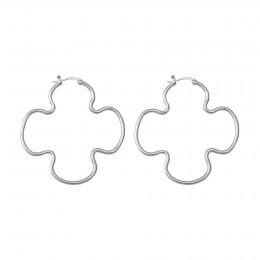 Boucles d'oreilles Clover 5 cm, acier