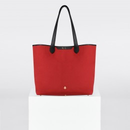 Sac Shopper, toile rouge