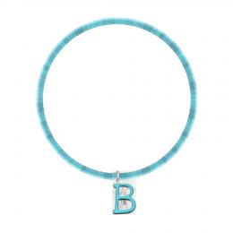 Bracelet Nike en pierres naturelles avec letter B