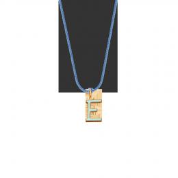 Collier avec lettre E sur cordon