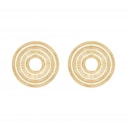 Boucles d'oreilles puces Etno, plaqué or