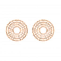 Boucles d'oreilles puces Etno, plaqué or rose