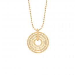 Collier sur chaîne avec pendentif Etno, plaqué or