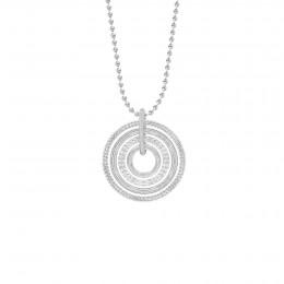 Collier sur chaîne avec pendentif  Etno, plaqué argent