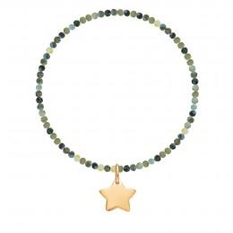 Bracelet Jupiter en pierres naturelles avec une étoile plaquée or