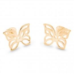 Boucles d'oreilles papillon ajouré en plaqué or