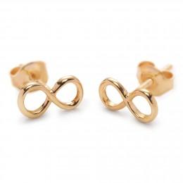 Boucles d'oreilles infinité en plaqué or