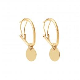 Boucles d'oreilles créoles 2 cm avec médaillons, plaqué or