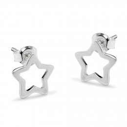 Boucles d'oreilles étoiles ajourées en argent