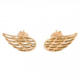 Boucles d'oreilles aile en plaqué or