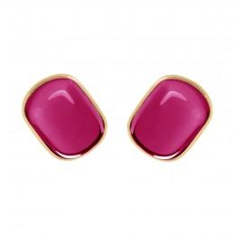 Boucles d'oreilles Biarritz avec grenat rouge