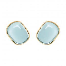 Boucles d'oreilles Biarritz avec topaze bleue