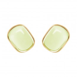 Boucles d'oreilles Biarritz avec quartz jaune