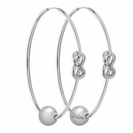Ensemble de boucles d'oreilles Eternity de 5cm en argent avec perles en argent