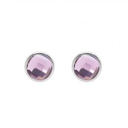 Boucles d'oreilles avec quartz violet, plaqué argent