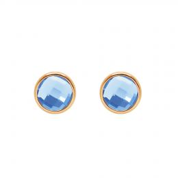 Boucles d'oreilles avec quartz bleu, plaqué or