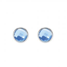 Boucles d'oreilles avec quartz bleu, plaqué argent
