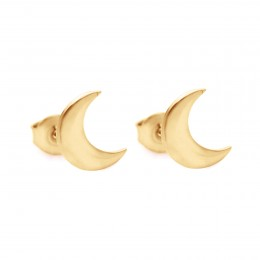 Boucles d'oreilles puces Lune plaquées or