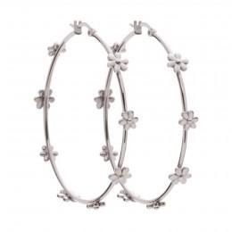 Boucles d'oreilles Flowers en acier