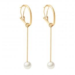 Boucles d'oreilles Perles 7,5 cm, plaqué or