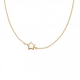 Collier avec une étoile ajourée en or585