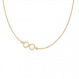 Collier chaîne avec signe de l'infini plaqué or