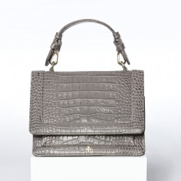 Sac à main Luna, crocodile gris