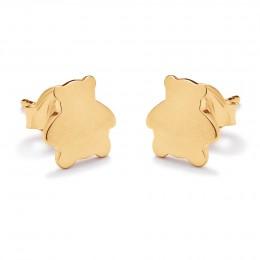 Boucles d'oreilles ourson en plaqué or