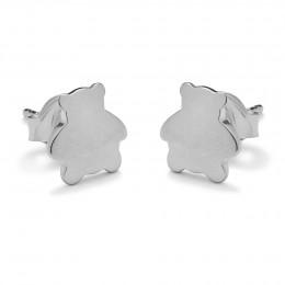 Boucles d'oreilles ourson en argent