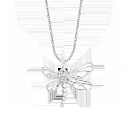 Collier Libellule avec zircon blanc
