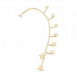 Ear cuff Étoiles, gauche, plaqué or