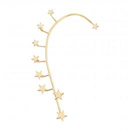 Ear cuff Étoiles, droit, plaqué or
