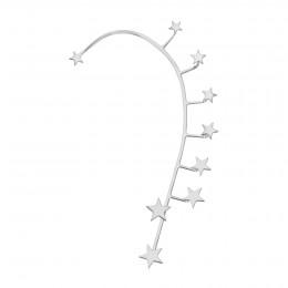 Ear cuff Étoiles, gauche, plaqué argent