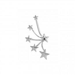 Multi-étoiles – manchette d'oreille droite argent