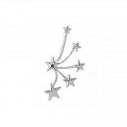 Multi-étoiles – manchette d'oreille gauche argent