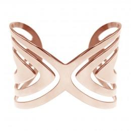 Bracelet Paon rose plaqué or