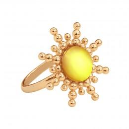Bague Sun avec quartz jaune