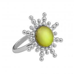Bague Sun avec quartz vert