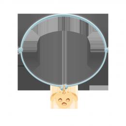 Bransoletka z Pieskiem na cienkim błękitnym sznurku