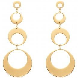Boucles d'oreilles 4 éléments plaqués or